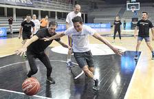 Punts  de bàsquet solidaris dels polítics per als projectes d'Unicef