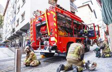 Crema el menjador d'un pis de la part alta d'Escaldes