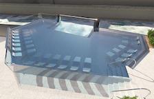 Caldea estrenarà la piscina transparent l'hivern vinent