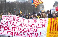Manifestació de l'ANC a Berlín per demanar la llibertat de Puigdemont