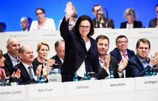 Andrea Nahles relleva Schulz a la presidència dels socialdemòcrates