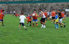 Taller de l'Stade Toulousain amb una vintena de nens
