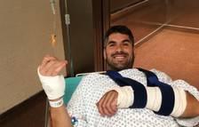 Cristian España pateix un accident fent descens i és operat