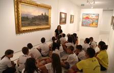 Els infants dels esports d'estiu visiten el museu Thyssen