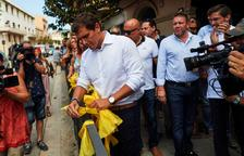 La polèmica dels llaços grocs puja de to i es cobra el primer detingut