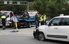 Accident a la rotonda de La Margineda