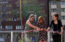 Samantha Bosque inaugura un nou mural a l'Hotel Roc Blanc