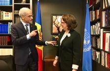 Toni Martí i la secretària general iberoamericana tracten l'acollida de la Cimera del 2020