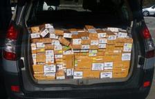 Els duaners gals requisen 800 cartrons de tabac