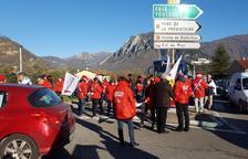 La protesta per l'augment del preu del dièsel amenaça de bloquejar l'Arieja