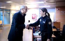 Martí i Espot visiten les dependències de la policia