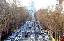Els taxistes de Madrid inicien una acampada al centre de la ciutat