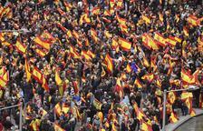 PP, Cs i VOX es manifesten a Madrid contra el govern de Pedro Sánchez