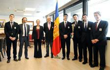 El Govern rep els campions de l'Europeu de Petits Estats