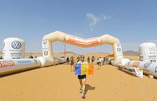 Jordi Buj compleix el somni de fer la marató des sables