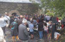 Una cinquantena d'encampadans celebren la Diada de Sant Romà de Vila