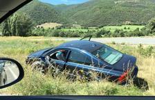 Un andorrà resulta ferit lleu en una topada frontal a Ribera d'Urgellet