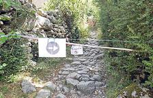 Tancat el camí de la Muntanya al Madriu