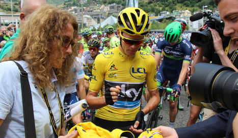 El líder de la classificació general, Christopher Froome